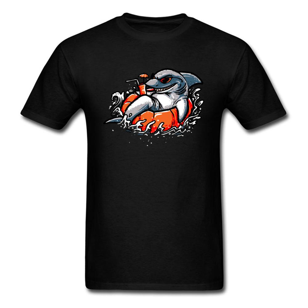 Surfer Sharks T Shirts Funny T-Shirts 100% Organic Cotton Fabric Summer Clothes For Men Cool Design Tee Shirt New 2018