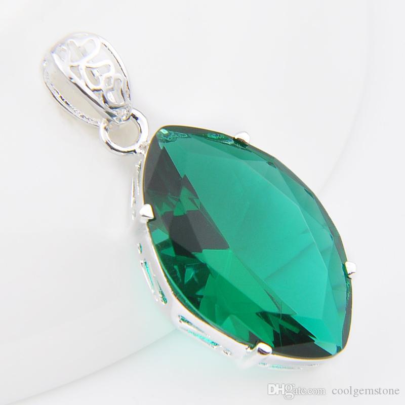 Big Sale 12 Pcs Amazing Vintage Green Quartz Crystal Gems 925 Sterling Silver USA Israel Wedding Engagement Pendants Weddings