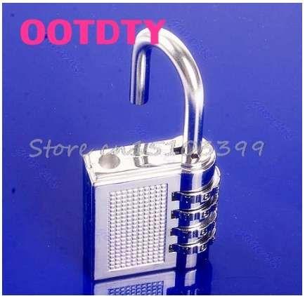 Cerradura codificada de bloqueo de combinación de 4 dígitos Candado codificado Password Plus Padlock Silver 17B G08 Drop ship