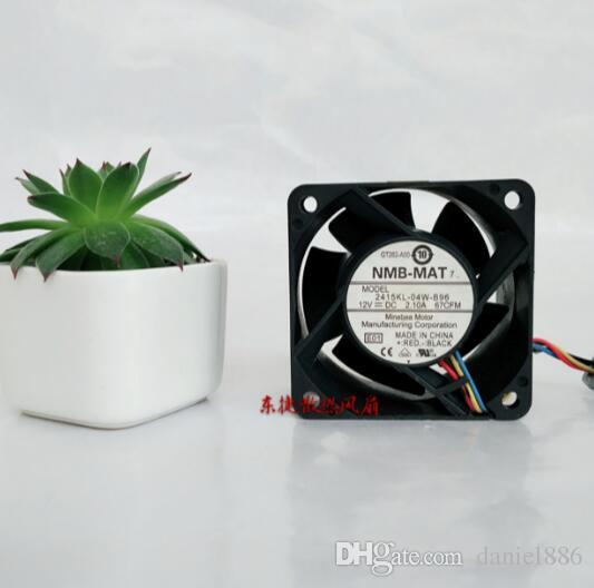 NMB ventilador servidor 2415KL-04W-B96 6038 12V 2.1A 6CM PWM de control de temperatura de gran volumen de aire de cuatro hilos
