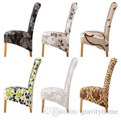 Respaldo largo de gran tamaño Cubierta para silla Respaldo alto King Spandex Cubiertas para sillas de tela Resterant Hotel Party Banquet Chair Fundas