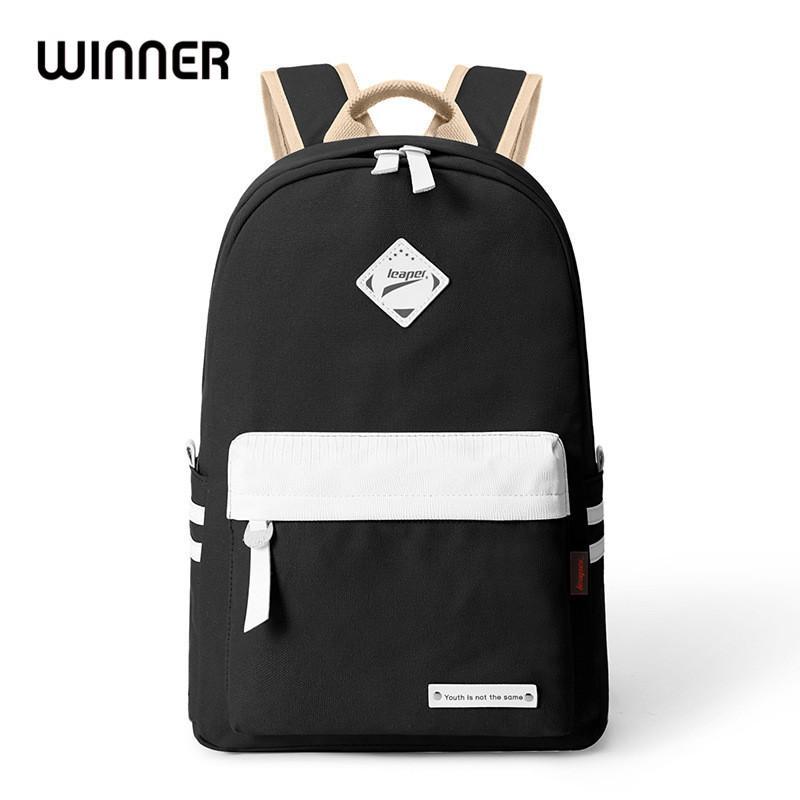 Las mujeres de muy buen gusto de moda bolsa de mano Escuela Sólido Viaje Negro Mochila para niñas adolescentes con estilo portátil Bolsa Mochila
