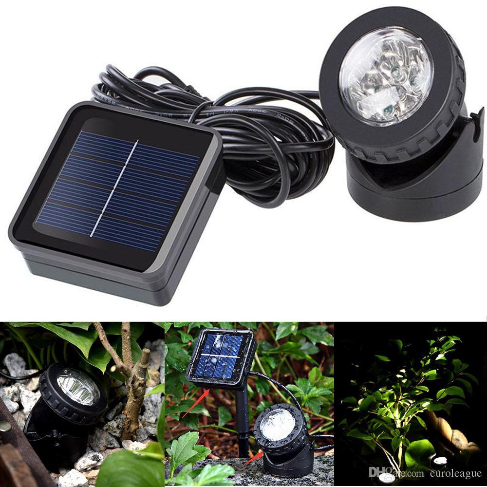 Słoneczne światła projekcyjne podwodne 6 LED reflektory Ogród Outdoor staw Oświetlenie