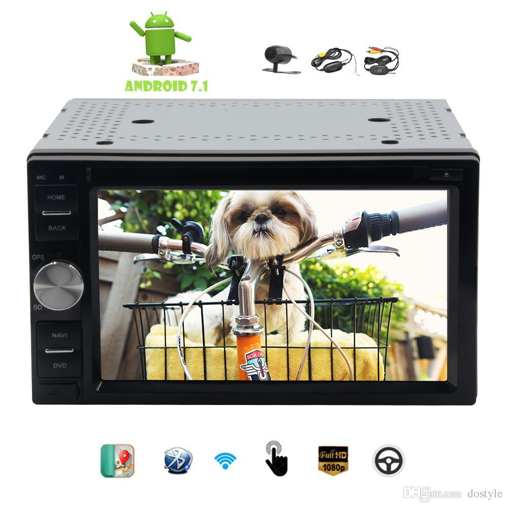 Cámara inalámbrica + Estéreo para auto Eincar 6.2 '' Doble din. Navegación GPS Autoradio Octa-core 7.1 Sistema CD del coche DVD Video 1080P Reproductor Bluetooth FM