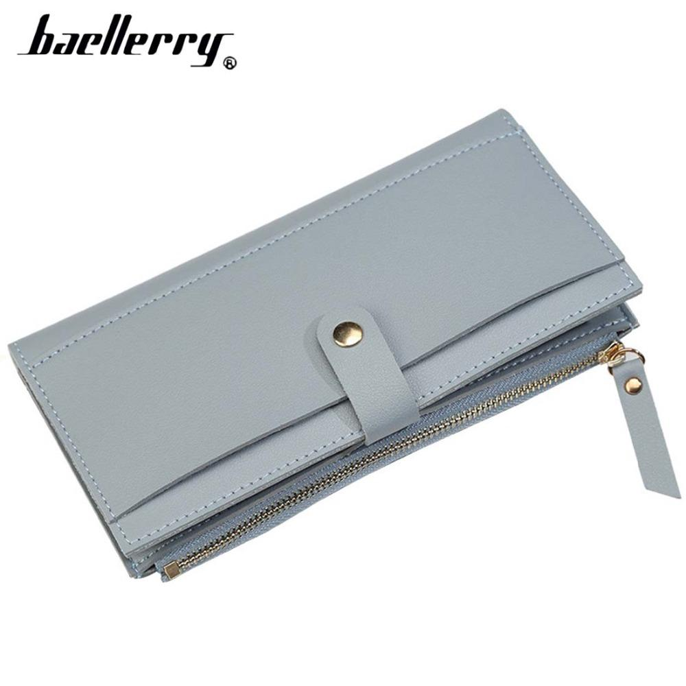 2018 Baellerry Women Wallets Long PU Leather Zipper Female Wallet Cell Phone Pocket Big Top Quality Purse For Girl