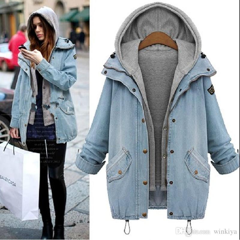 Новый 2016 Женская Мода Плюс Размер Куртка Леди Популярные Пальто Весна Осень Зима С Длинным Рукавом Женщины Пальто Повседневная Верхняя Одежда A181