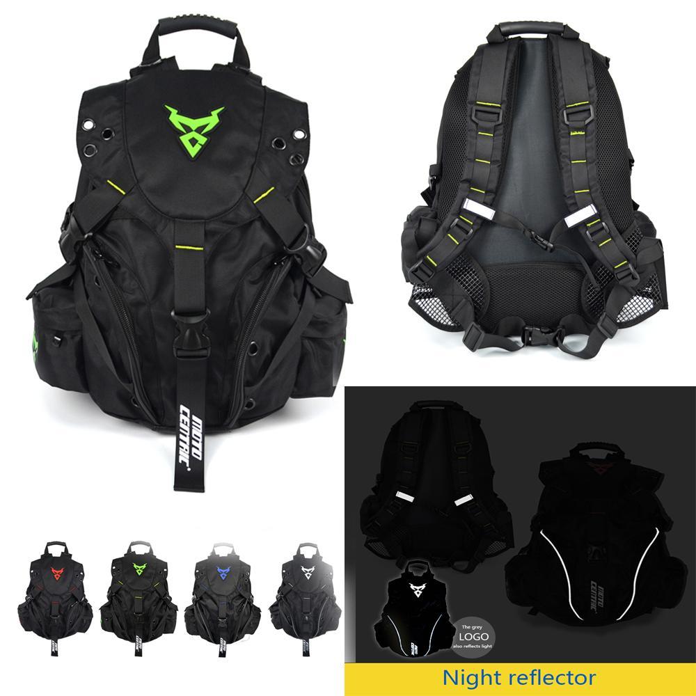 Borsa per casco da viaggio Zaino Spalle Moto Sport Tempo libero pesca arrampicata Zaino Skull Deluxe Pack Nero