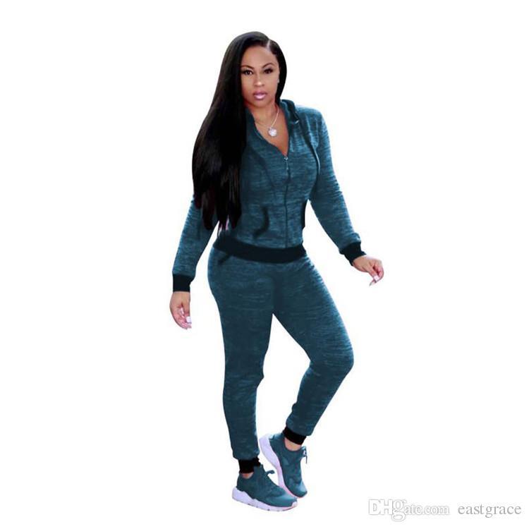 Mode Frühjahr Frauen Trainingsanzüge Casual Hoodies Frauen zweiteilige Jogger Set Damen Trainingsanzug Trainingsanzüge Plus Größe S-3XL mit 4 Farben