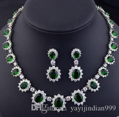 wonderful diamond crystal stone more color bride wedding jewelry set necklace earings (vlin123) sfsd