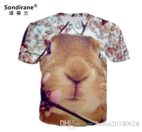 Sondirane New Fashion Animal 3D Print Short Sleeve T Shirts Design Women/Men Quick Dry Tee Shirt Casual Hip Hop Tops Comfortable