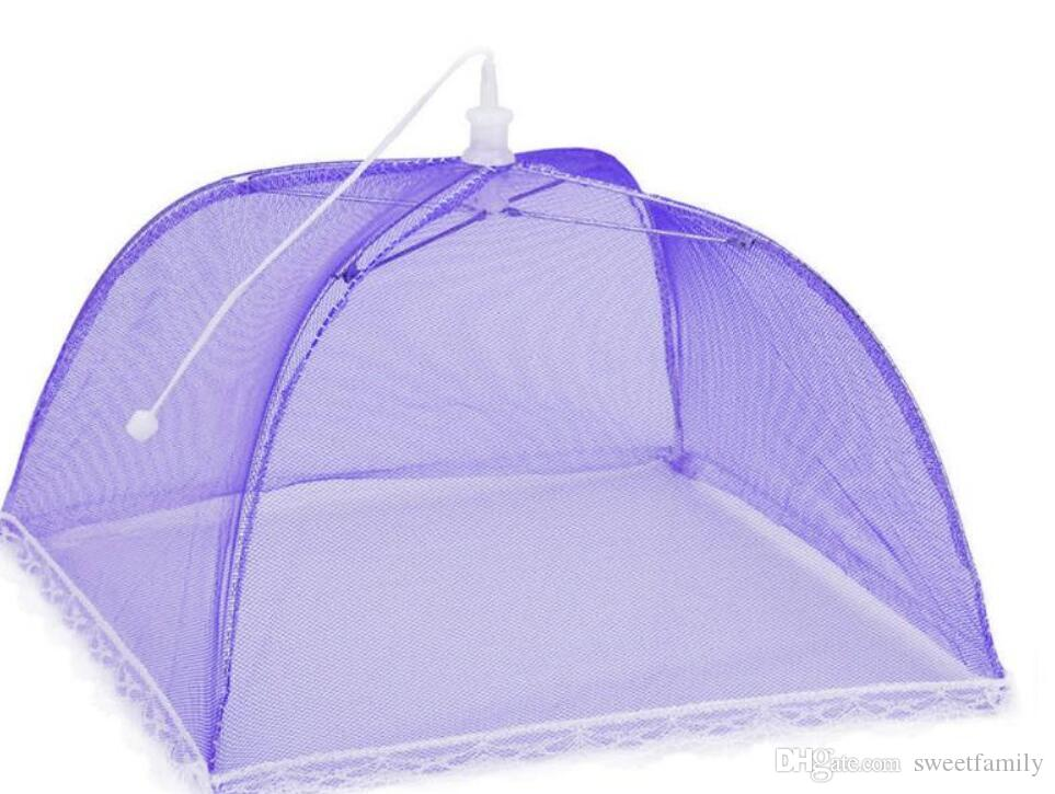 Large Pop-Up Mesh Screen Food Cover Tent Umbrella Reusable and Collapsible Outdoor Picnic Food Covers Mesh Food Cover Net