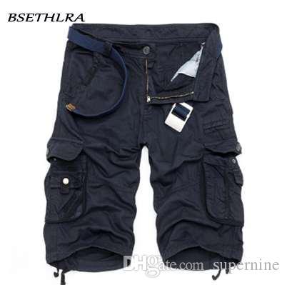 BSETHLRA New Shorts Hommes d'été chaud vente travail pantalons courts camouflage Vêtements militaire Mode Hommes Cargo Shorts 29-40