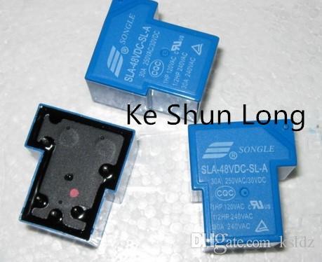 Freies Verschiffen Los (5pieces / lot) 100% ursprüngliche neue SONGLE SLA-48VDC-SLA SLA-48V-SLA SLA-DC48V-SLA 5PINS 30A 48V DC48V 48VDC-Leistungsrelais