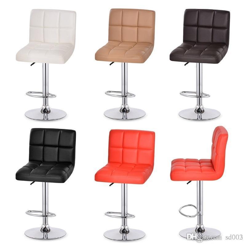 Giratória hidráulico Altura couro ajustável Pub Bar fezes Cadeira Caixa Escritório de fezes cadeiras de recepção Gire Hot Sale 98xt dd