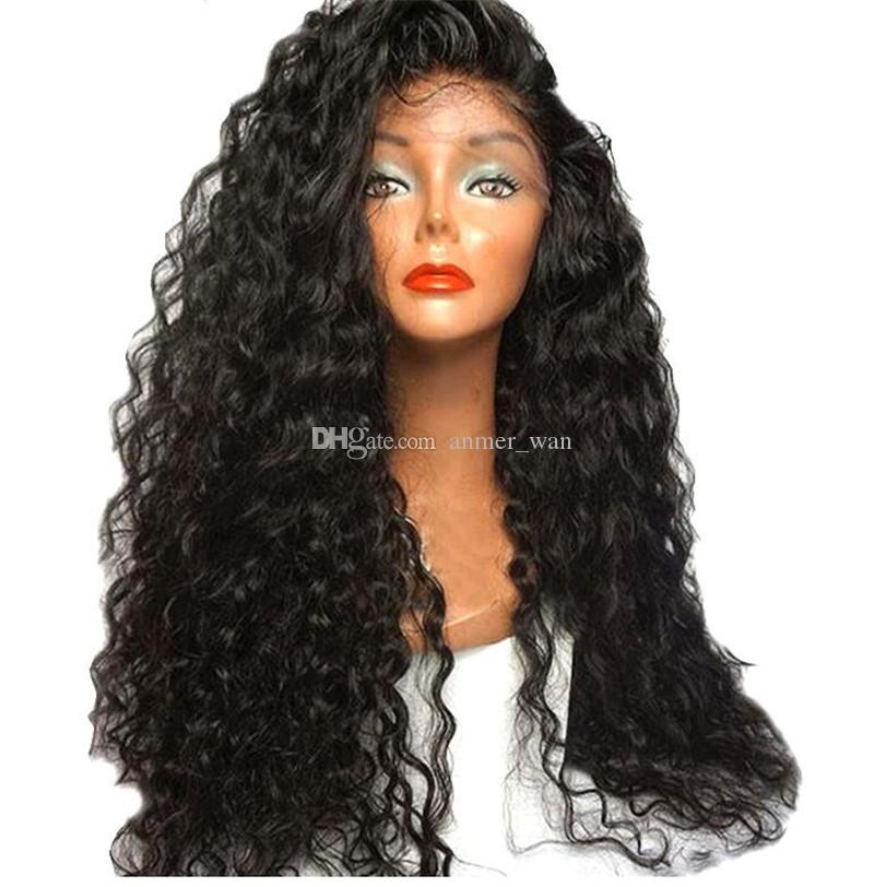 150% density Wet And Wavy Full Lace Human Hair Wigs For Black Women Virgin Peruvian Water Wave Lace Front Wigs Natural Hairline