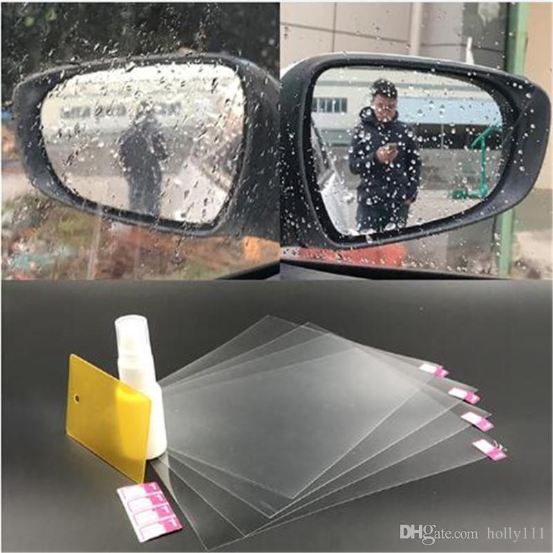 Anti-fog/rain/water film for car mirror Car rearview mirror sticker rearview mirror protector film for car free shipping