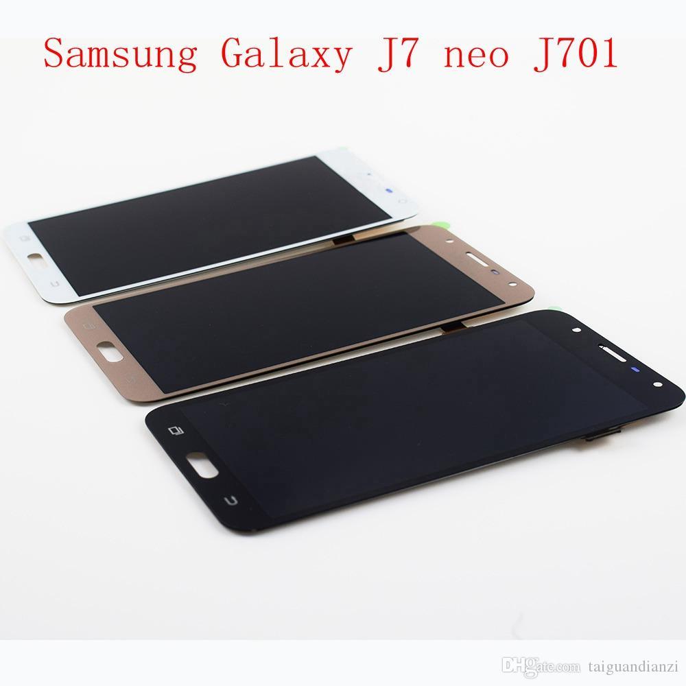 Parlaklık Kontrolü Ile LCD Değiştirme Için Samsung Galaxy J7 neo J701 J701F J701M LCD Ekran Dokunmatik Ekran Digitizer Meclisi