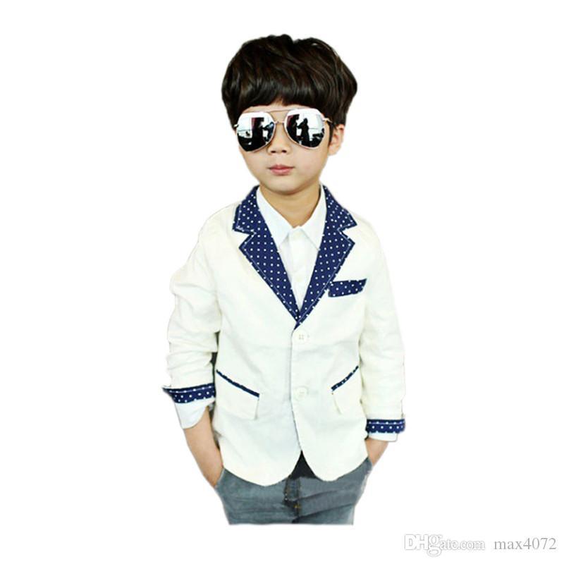 Chaquetas de niños abrigo causal estilo caballero chaqueta sólida prendas de vestir exteriores por 2-10 años niños niños ropa