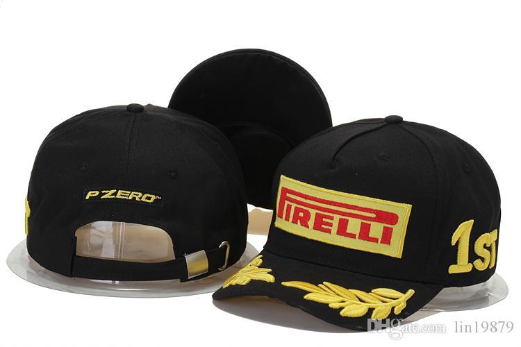 El más nuevo gorras papá Bordado F1 Racing gorras de béisbol de algodón Gorra de Golf ajustable Sombreros snapback del coche para mujeres hombres verano hueso casquette