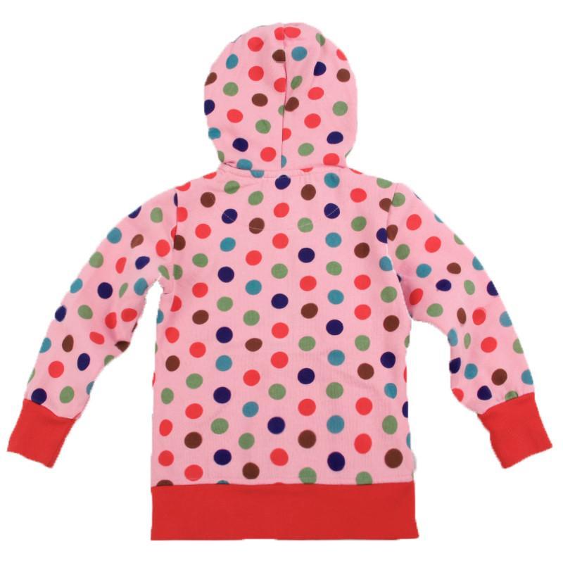 novat F3328 девушки одежда куртка ребенка с капюшоном цветок точка пальто мультфильм детская одежда дети пальто дети зимние куртки пальто горячие