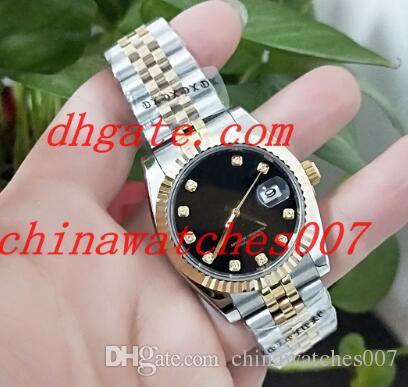 Vendita calda 2018 nuovi uomini di lusso di lusso di alta qualità orologio 36mm 116243 quadrante nero automatico orologio da uomo