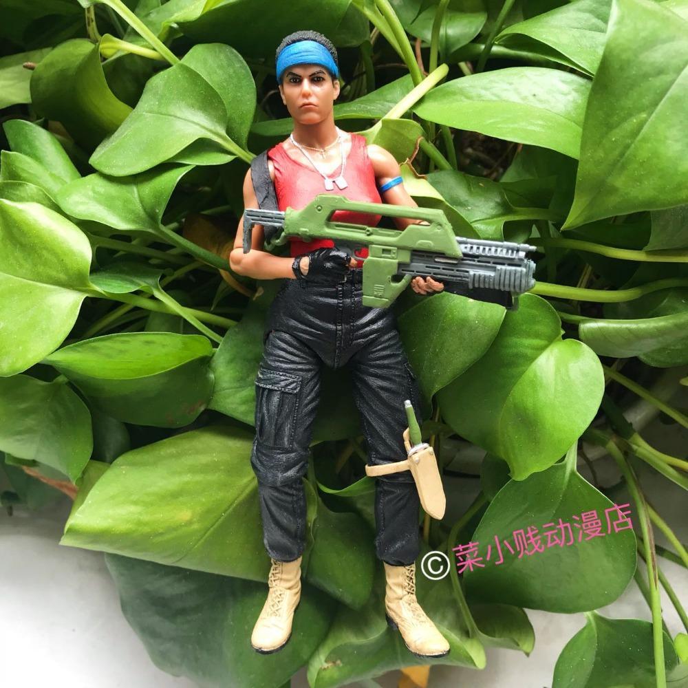 Genuine NECA Science Monster Movie Female Role Jeanette Alien vs. Predator AVP Ripley Movable Model Action Figure Toy