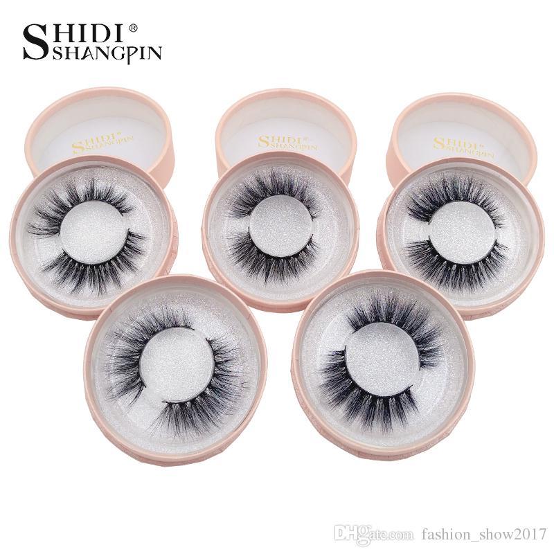 Shidishangpin 1 Para norek rzęsy Naturalne Długie 3d Mink Lashes Hand Made False Eyelashes 1 Box 3D Lashes Eyelash Extension