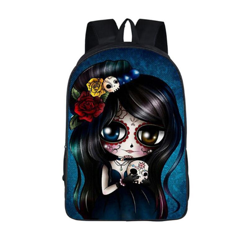 청소년을위한 만화 고딕 배낭 소녀 소년 학교 가방 락 펑크 동물 배낭 어린이 학교 배낭 어린이 선물 가방