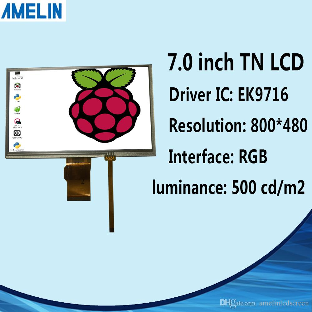 Normally white 7 inch 800*480 TFT LCD module display RGB-24BIT EK9716 Driver IC screen with resistive touch panel