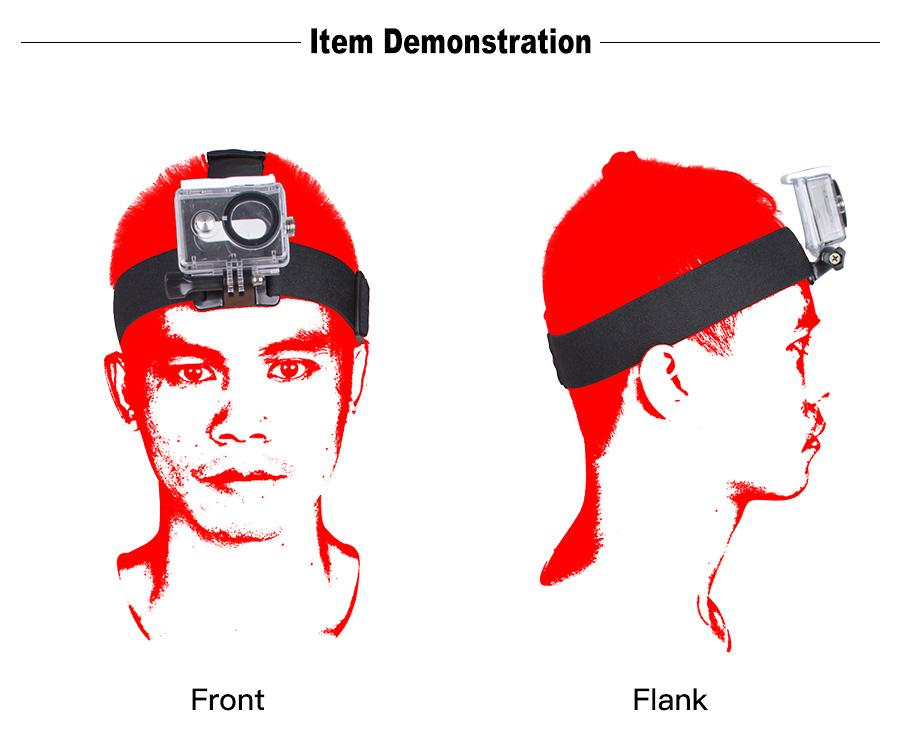 gopro sjcam xiaomi yi action camera head strap mount4