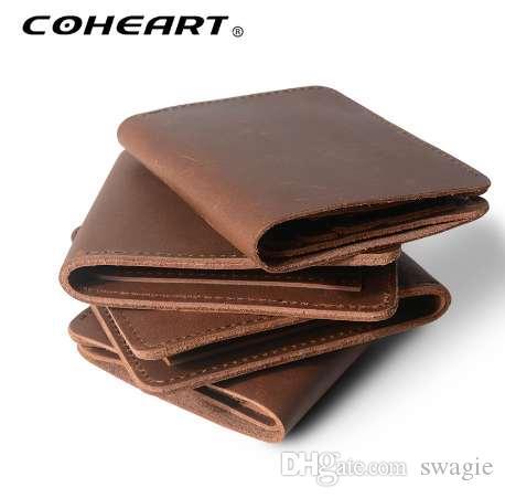Portafoglio in vera pelle di alta qualità borsa vera pelle di alta qualità in vera pelle Portafoglio maschio vintage carta borsa Top Quality!
