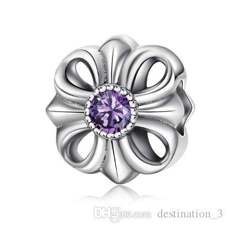 Vendita calda dell'amicizia dell'amore dell'argento sterlina 925, branelli rosa della CZ misura i braccialetti di fascini di BISAER 925 monili d'argento originali di modo