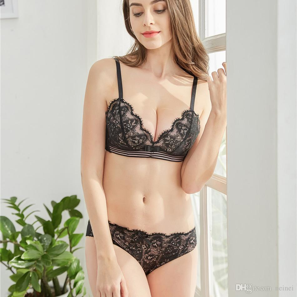 3 colors thin small cup seamless intimates sleep underwear young girls lace sexy bra and panty wireless comfortable lingerie