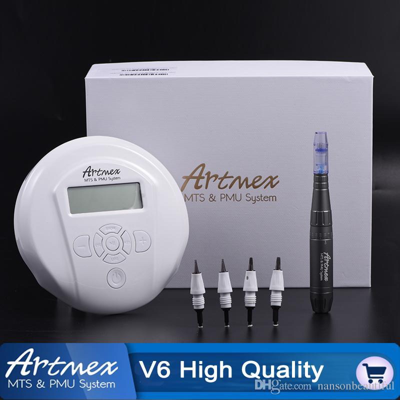 Artmex V6 Profesyonel yarı kalıcı makyaj makinesi Dövme setleri MTS PYB Sistemi Derma Kalem Kaş dudak dövme kalem