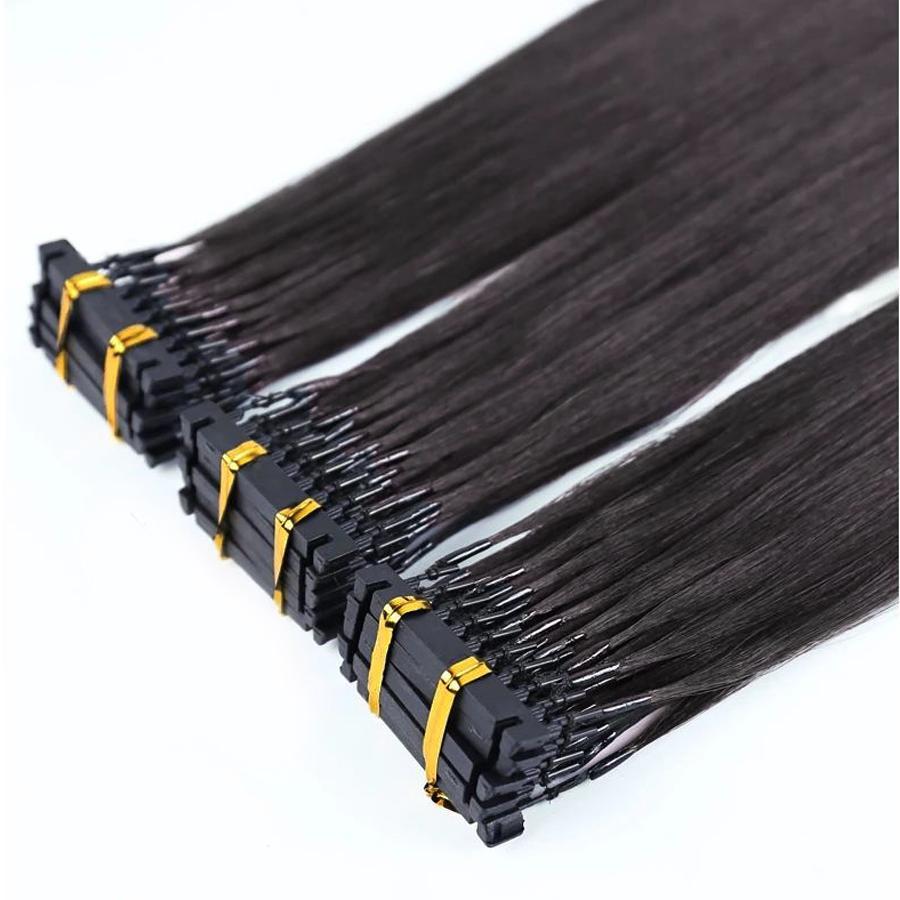 أفضل المنتجات الأكثر مبيعا جودة عالية سريع 6D ريمي قبل ملحقات الشعر البشري المستعبدين، ملحقات الدائري الصغير، ملحقات الشعر 6D