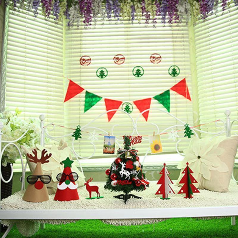 Decorações de Natal se adapte às decorações de Natal feliz conjunto Banner Xmas Tree Party Decor