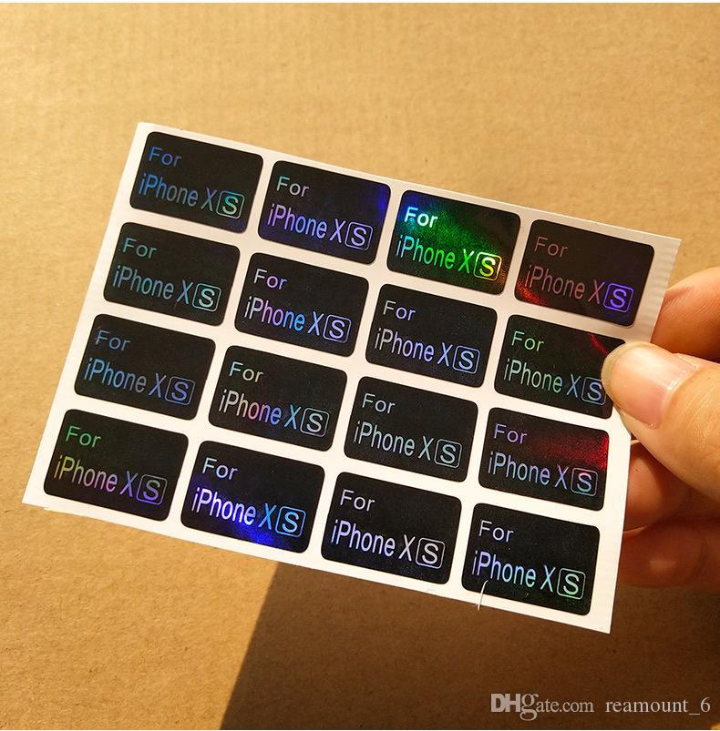 Etichetta laser di fabbrica Etichetta del modello di telefono cellulare Etichetta autoadesiva rivestita in carta Etichetta personalizzata marchio logo