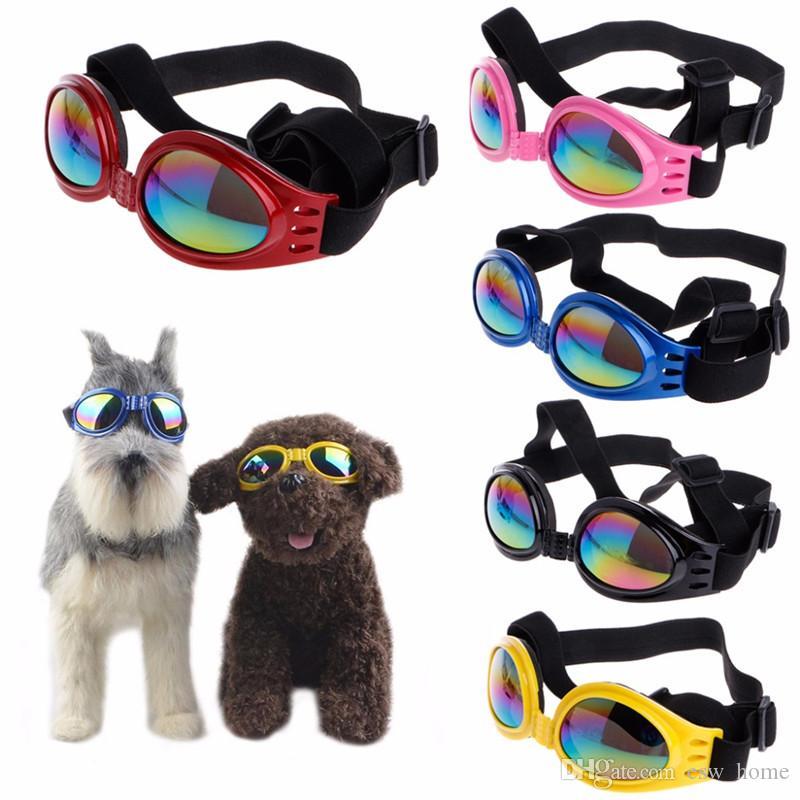 Мода лето Pet собака кошка складные очки УФ солнцезащитные очки защита глаз носить с ремешком товары для животных 6 Цвет