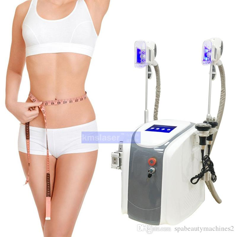 2 cryo handles work at same time cavitation rf equipment Vacuum cellulite reduction lipolaser slimming cryotherapy weight loss