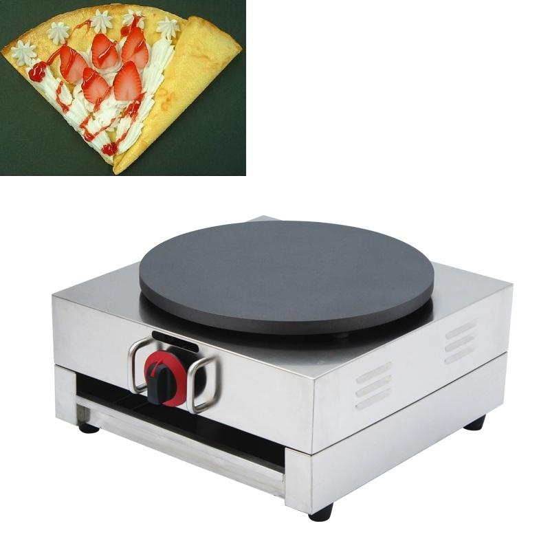 Stainless Steel Non-Stick Commercial LPG GAS French Crepe Maker Machine Pancake Iron Grill 40cm Cooking Pan