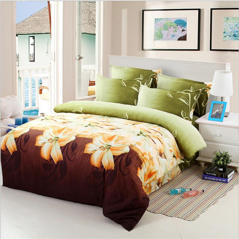 Romantic Pink Rose 3d Bedding Set Brown Bedroom Home Textiles Duvet Cover Bed Sheet Pillow Cases Comforter Bedding Sets Panda