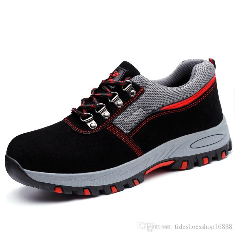 mens big size comfort steel toe cap working safety tooling shoes outdoors platform anti-puncture tooling security low boots male