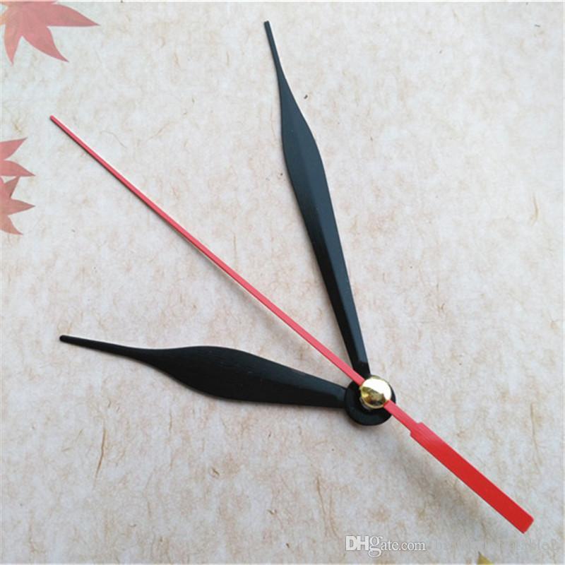 Großhandel 50 stücke Black Metall Uhr Pfeile Für Mechanismus mit roten Sekunden Hand DIY Reparatur Kits