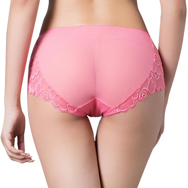 Pączek Silk Popularne damskie majtki koronki Gaza Wentylacja Majtki Hollow Out Sexy Intymates Smak Powiększ Con Figi