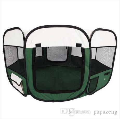 "45"" Portable Foldable 600D Oxford Cloth & Mesh Pet Playpen Fence with Eight Panels 46cm 59cm Pet supplies dog supplies dog fence"