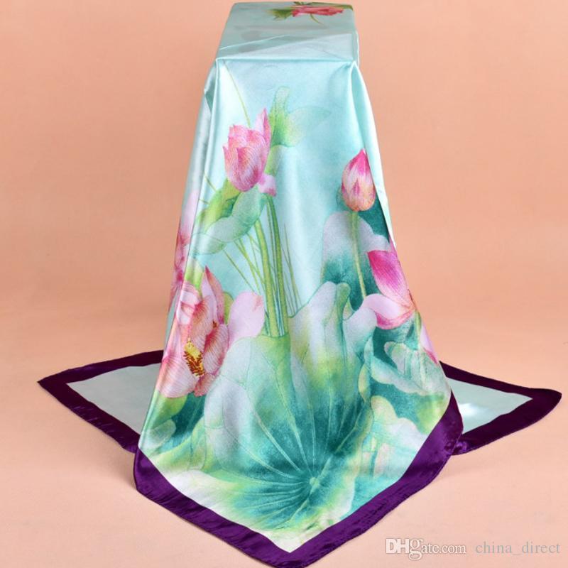 90cm quadratischer Schal Neckscarf Sarongs-Schalwarp Hijabs 90 * 90cm 30pc / lot # 3673