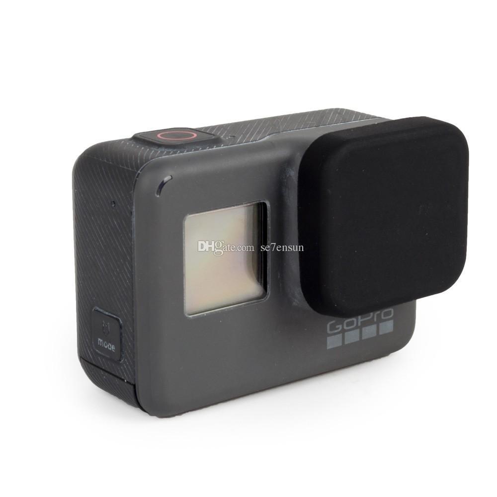 Защитная крышка объектива мягкий силиконовый резиновый материал пыленепроницаемый царапин для спортивной акции камеры 5 черный
