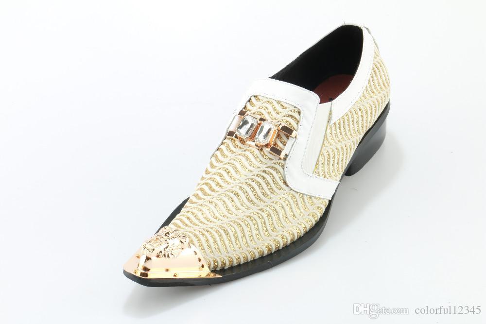 Zapatos de vestir de los hombres italianos Zapatos de la boda de la correa de la hebilla Mocasines para hombre de cuero de Genunine rojo Tamaño del dedo del pie señalado 5-12
