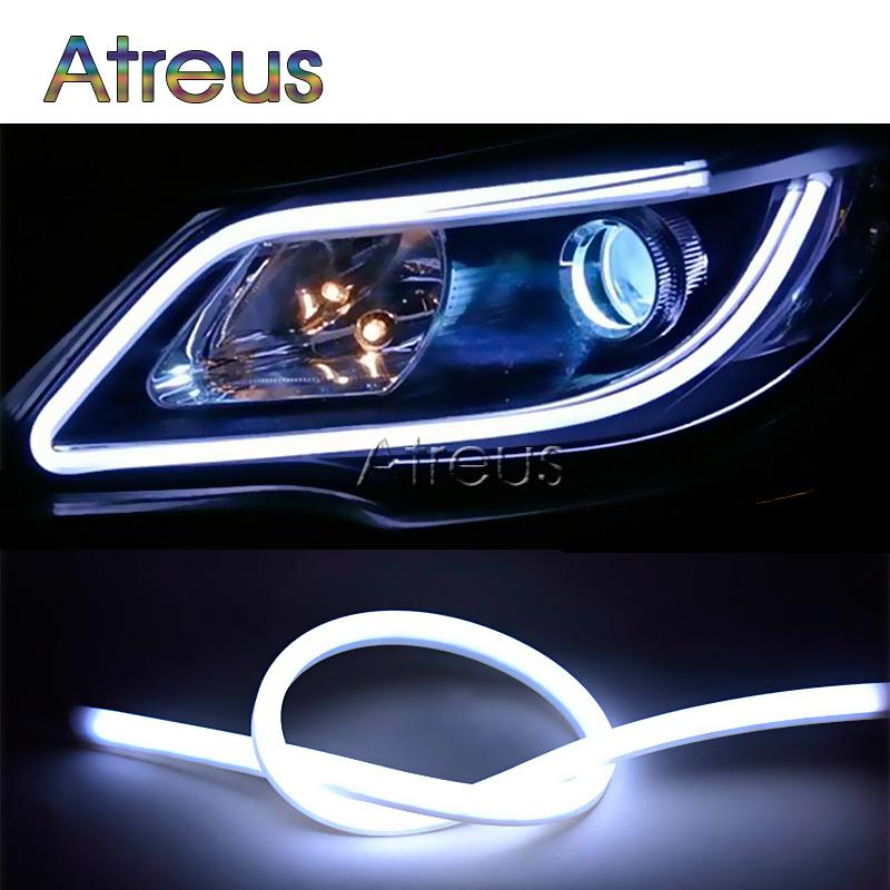 60CM Flexible LED Daylight Running Light DRL Lampe pour Duster Megane 2 3 Logan Captur 3 6 CX-5 CX-7 Siège Leon Ibiza