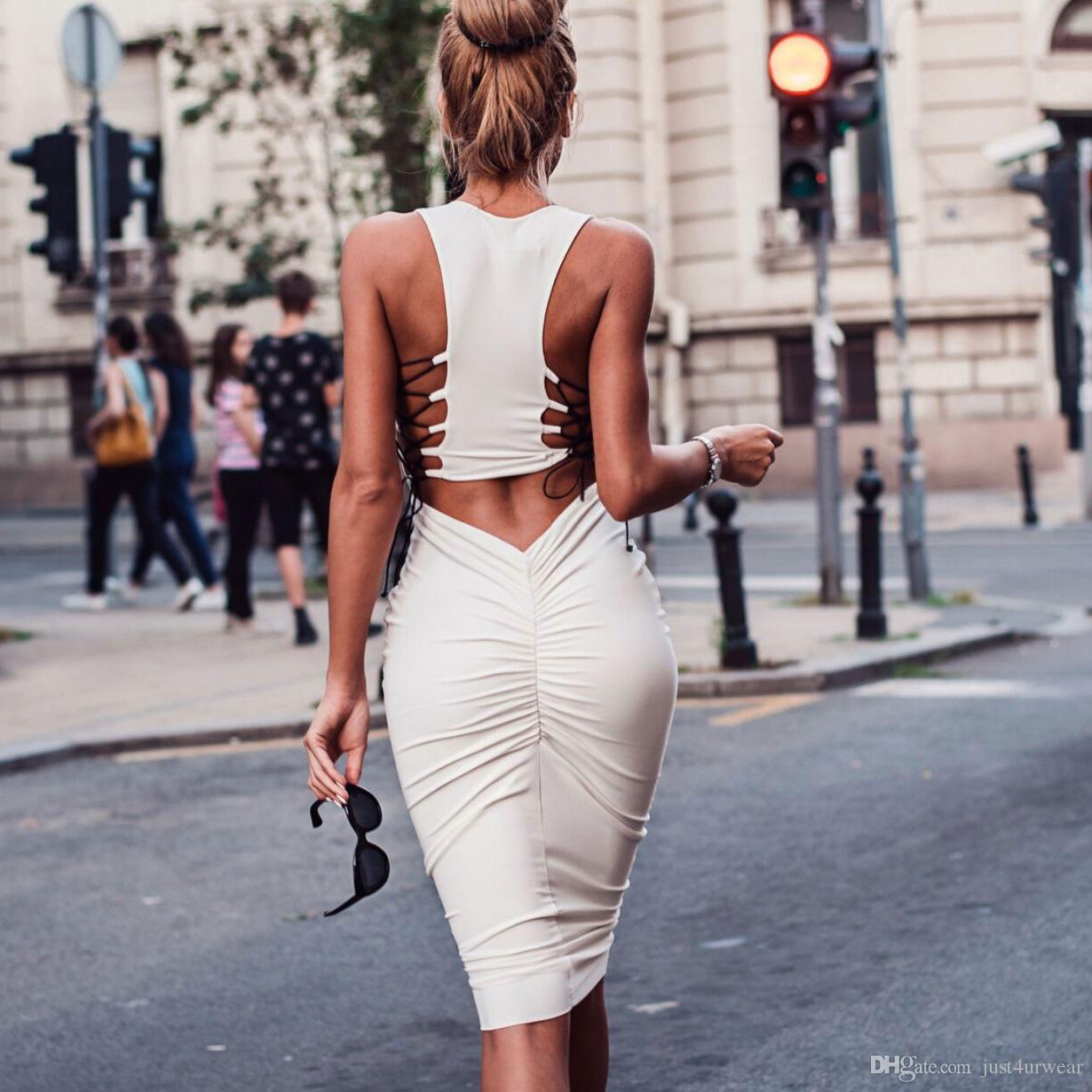 Woman Modal Hollow Out With Belt Design Bandage Dresses Ladies Empire Sexy Party Club Dreeses Womens Skinny Bodycon Sheath Dresses